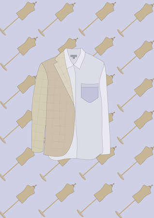 blazer: shirt and blazer Illustration