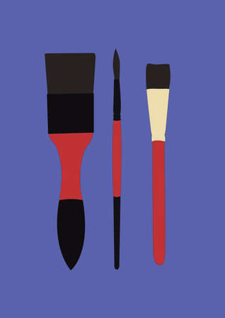 bristles: paint brushes