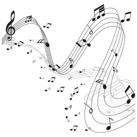 trill: musical notes Illustration