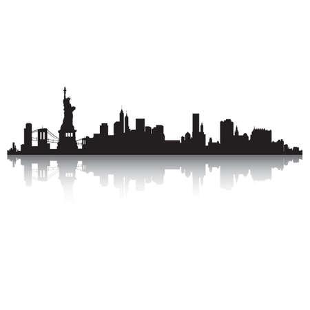new york skyline: new york skyline silhouette Illustration