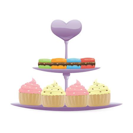 macarons: cupcakes and macarons