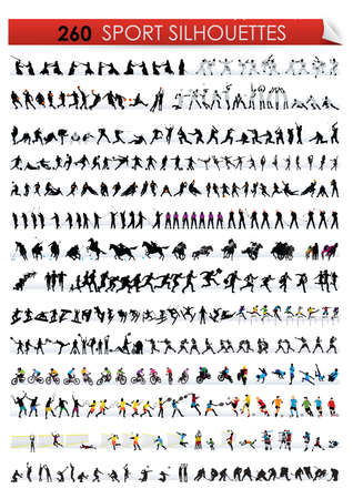 sports silhouette Vectores