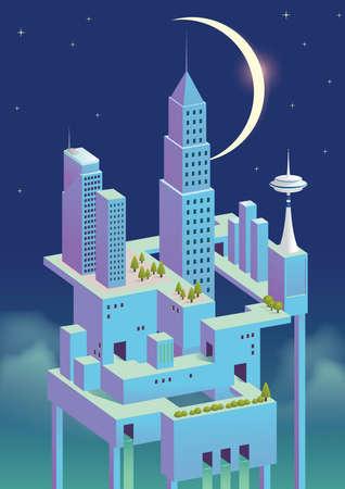 urban city concept at night