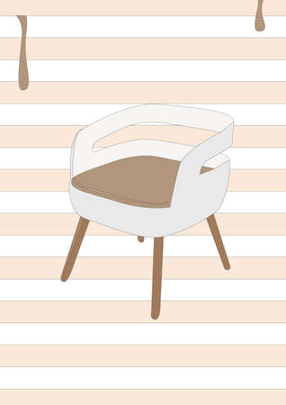 modern chair: modern chair Illustration