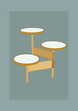 side table: modern side table Illustration