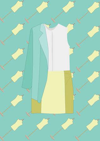 blazer: top and skirt with blazer