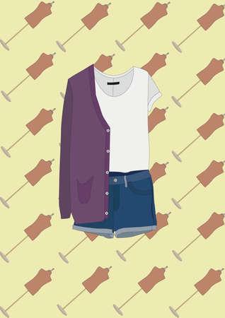 blusa: blusa y pantalones cortos