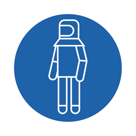thermal: person wearing thermal suit Illustration
