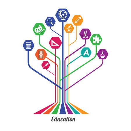 education concept: education tree concept