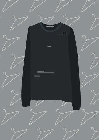 sleeved: black long sleeved shirt