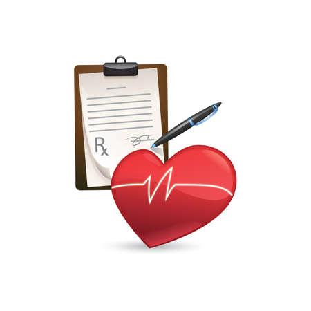 checkup: heart check-up concept Illustration