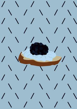 savoury: bruchetta with caviar