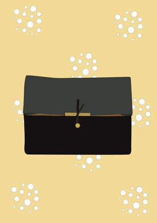clutch bag: clutch bag Illustration
