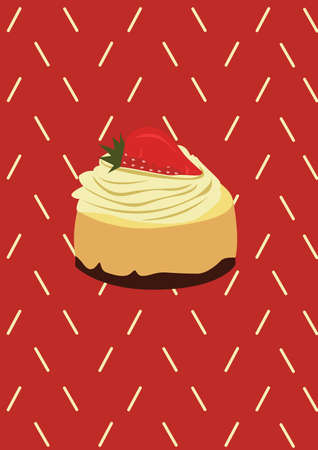 pastry: pastry with strawberry Illustration
