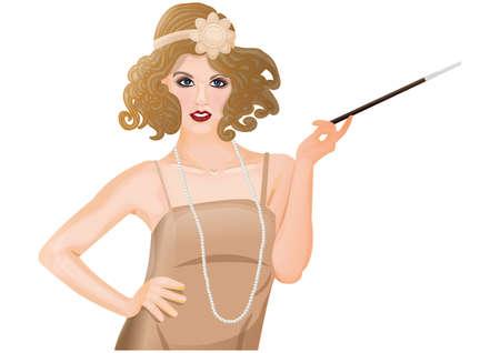 flapper: flapper girl