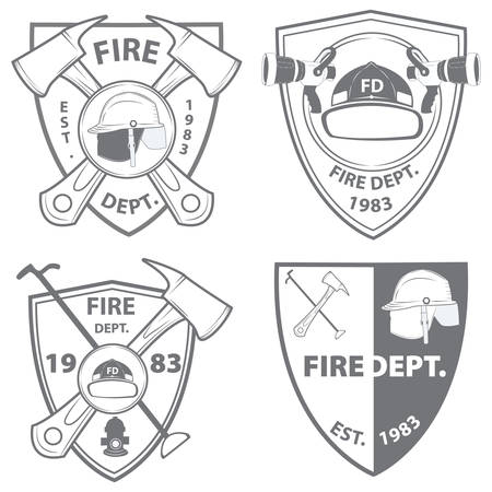 fire department: fire department emblems and badges