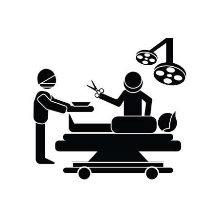 연산을 수행하는 외과의 일러스트