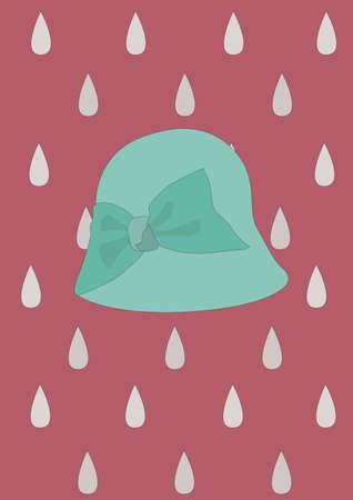 headwear: cloche hat