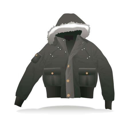 outerwear: winter jacket Illustration
