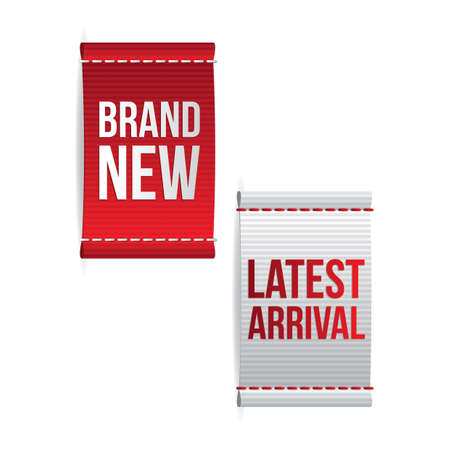 brand new: brand new and latest arrival labels