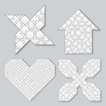 different shapes: puzzles in different shapes