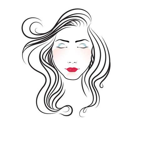 ojos cerrados: la cara de una mujer con los ojos cerrados