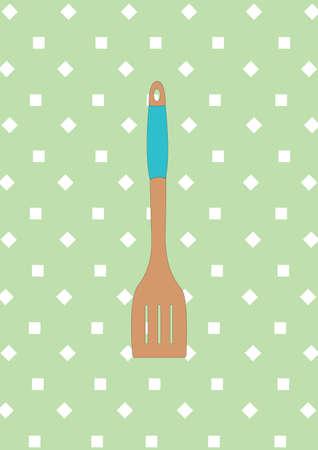 spatula: wooden spatula