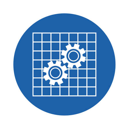 cogwheels and grids