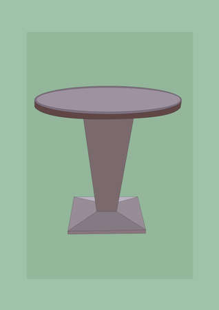 side table: round table Illustration