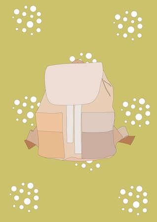 knapsack: backpack Illustration