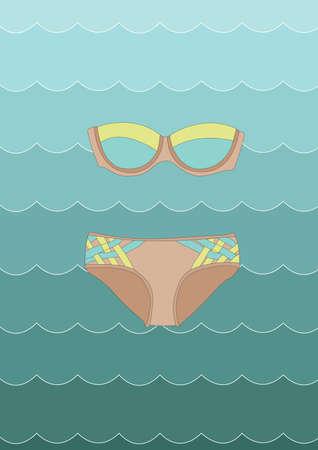 swimming costume: bikini