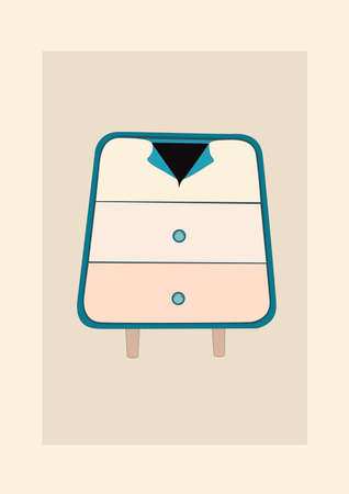 side table: chest of drawers