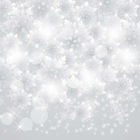 x mas background: snowing snowflakes design Illustration