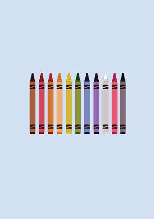 crayons: colorful crayons