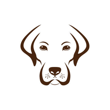 golden retriever puppy: simple dog design