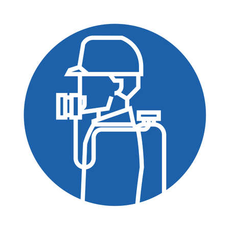 gas man: man wearing a gas mask Illustration