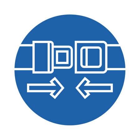 belts: seat belts Illustration