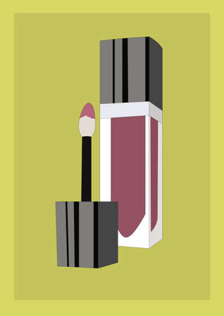 gloss: lip gloss Illustration