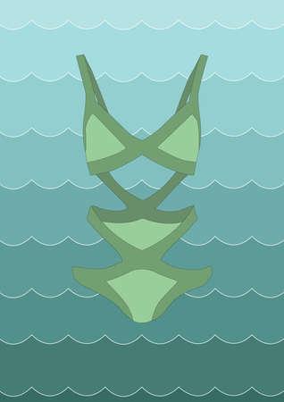 swimming costume: swimwear