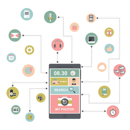 smartphone apps: smartphone apps concept