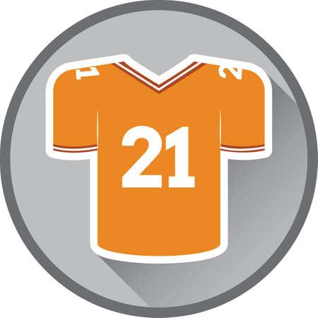 sports jersey: american football jersey Illustration