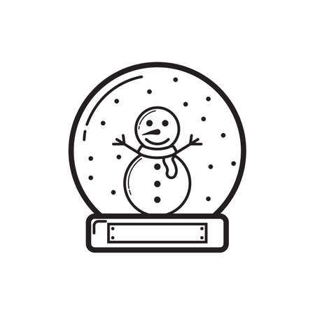 snowglobe: snowglobe with snowman inside
