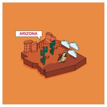 grand canyon: arizona state Illustration