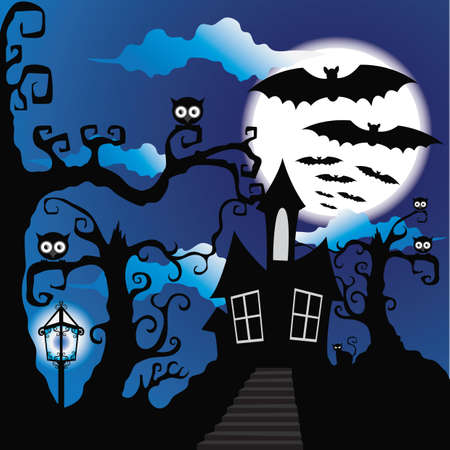halloween background: halloween night background