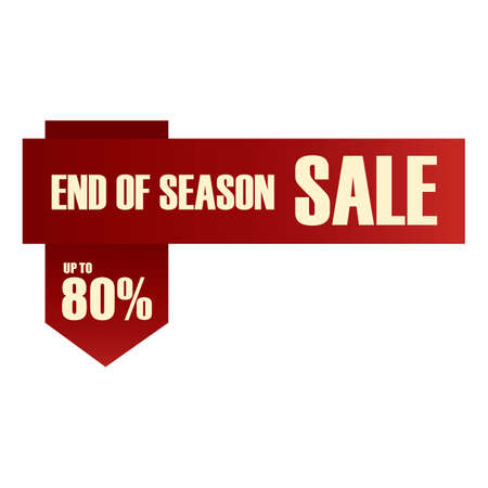 end: end of season sale label