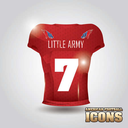 football jersey: american football jersey Illustration