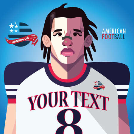 sports jersey: american football player Illustration