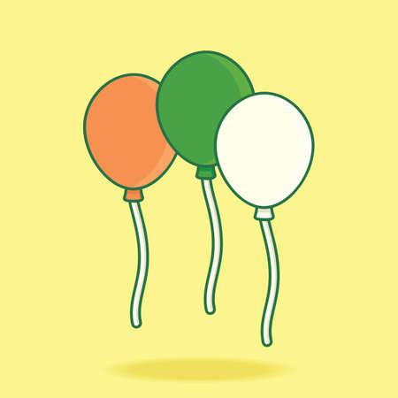 irish: balloons in irish flag colors