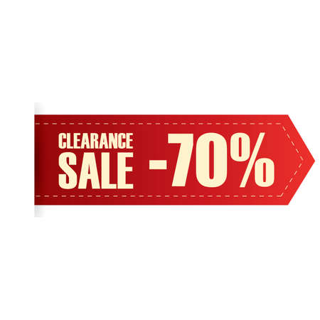 clearance: clearance sale label Illustration