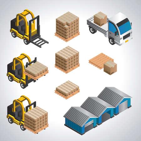 illustrate: warehouse equipment set